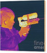 Thermogram Of A Boy Wood Print