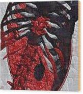Torso Skeleton Wood Print