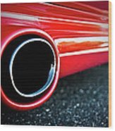 94 Vette Side Pipes Wood Print