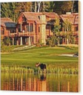 9th Hole's Occasional Water Hazard Wood Print