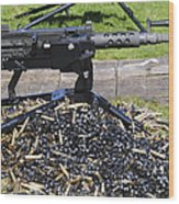 A .50 Caliber Browning Machine Gun Wood Print