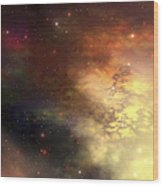 A Beautiful Nebula Out In The Cosmos Wood Print