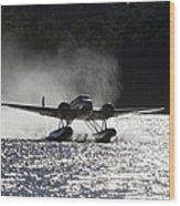 A Beechcraft D-18s Floatplane ,built Wood Print