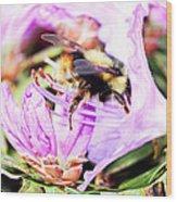 A Bees World Wood Print