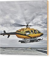 A Bell 407 Utility Helicopter Prepares Wood Print