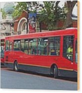 A Bevy Of Buses Wood Print by Anna Villarreal Garbis