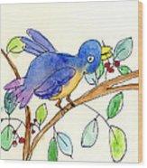 A Bird Wood Print