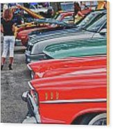 A Blast Of Color - Auto Row 7708 Wood Print