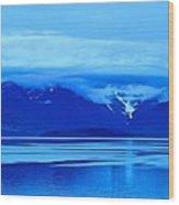A Blue Slice Of Alaska Coast Wood Print