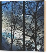 A Blue Winter's Eve Wood Print
