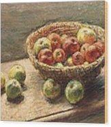 A Bowl Of Apples Wood Print