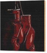 A Boxer's Passion Wood Print