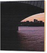 A Bridge To Rossalyn Wood Print