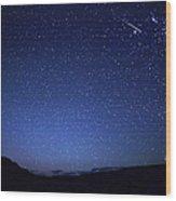 A Bright Sporadic Meteor Wood Print