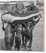 A Buds 1st Phase Boat Crew Carry An Wood Print