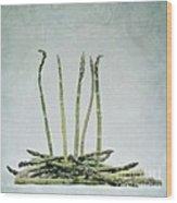 A Bunch Of Asparagus Wood Print