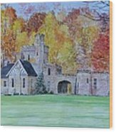 A Castle In Autumn. Wood Print