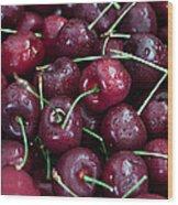 A Cherry Bunch Wood Print