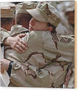 A Chief Master Sergeant Consoles Wood Print by Stocktrek Images
