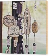 A Chime For God Wood Print by Hannah Miller