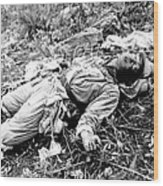 A Chinese Soldier Killed Wood Print