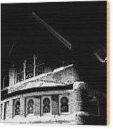 A Church On A Dark Night Wood Print