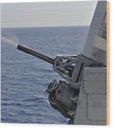 A Close-in Weapons System Aboard Wood Print