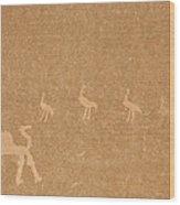 A Close View Of Ancient Petroglyphs Wood Print
