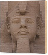 A Close View Of The Face Of Ramses IIs Wood Print