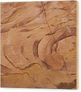 A Close View Sandstone Rocks Of Petra Wood Print