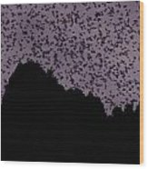 A Cloud Of Bats Fills The Twilight Sky Wood Print