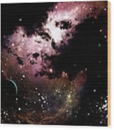 A Cluster Of Bright Young Stars Tear Wood Print