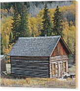 A Colorado Cabin Wood Print