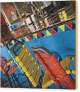 A Colorful Bar Wood Print