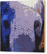 A Colorful Elephant Work Number 1 Wood Print