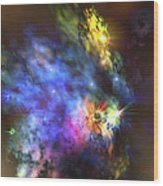 A Colorful Nebula In The Universe Wood Print