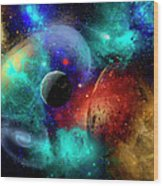 A Colorful Part Of Our Galaxy Wood Print