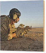 A Combat Rescue Officer Provides Wood Print by Stocktrek Images
