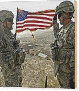 A Commander Re-enlists Master Sergeant Wood Print