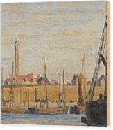 A Continental Harbor Wood Print by William Lionel Wyllie