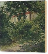 A Corner Of The Garden In Rueil Wood Print