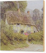 A Country Cottage Wood Print by Helen Allingham