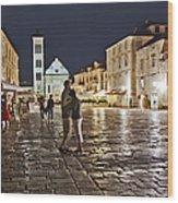 A Croatian Night Wood Print
