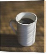 A Cup Of Coffee At A Diner Wood Print