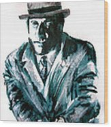 A Dapper Brit-portrait Of Ron Moody Wood Print