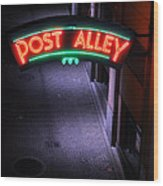 A Dark And Lonely Post Alley - Seattle  Wood Print