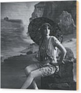 A Day At The Beach 1911 Wood Print