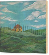 A Day In Tuscany Wood Print by John Keaton