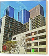 A Different Perspective On Downtown Los Angeles I Wood Print