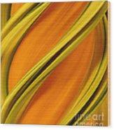 A Digital Streak Image Of A Squash Wood Print